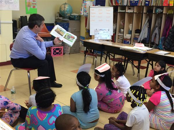Washington School Hosts Special Guests for Read Across America