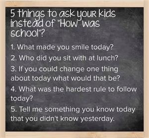 5 Things to Ask Your Kids...