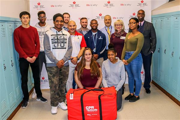 American Heart Association Delivers CPR Kit to West Orange High School