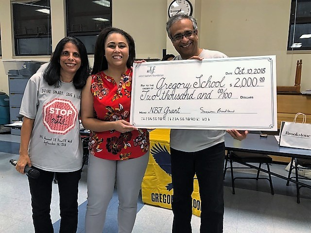 Nikhil Badlani Foundation Awards $2,000 Grant to Gregory Elementary School
