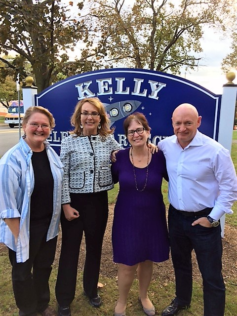 Astronaut Mark Kelly and Congresswoman Gabby Giffords Pay Surprise Visit to Kelly Elementary School
