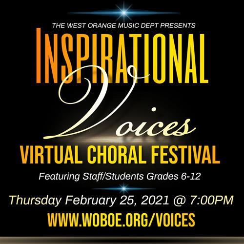 "Don't Miss ""Inspirational Voices: A West Orange Choral Festival"" Virtual Concert Feb. 25"