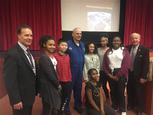 Astronaut Lee Morin and Congressman Rodney Frelinghuysen Visit Liberty Middle School