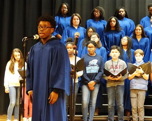 Edison Middle School Celebrates Black History Month with Jubilee Choir and Step Teams