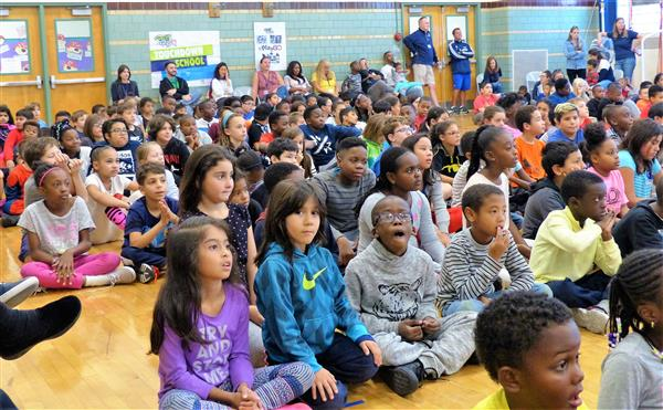 "Week of Respect Kicks Off at Kelly Elementary School with ""Omega Man"" Assembly"