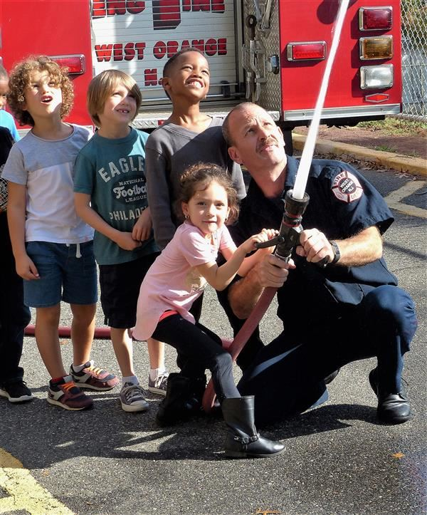 West Orange Fire Department Visits Kindergarten Classes at Hazel Elementary School