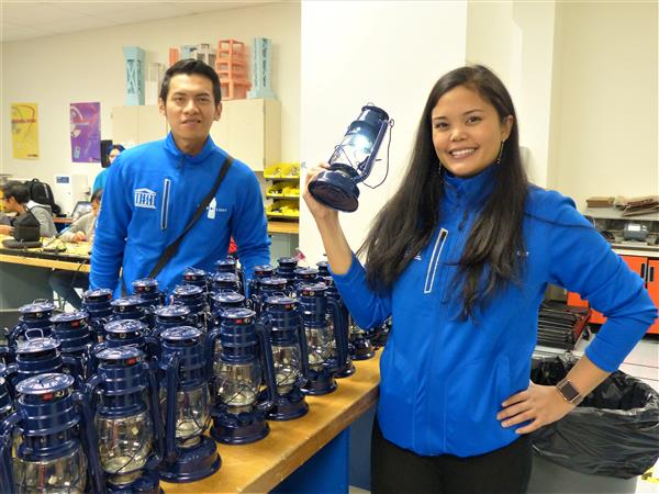 West Orange High School Students Construct Liter of Light Solar Lanterns
