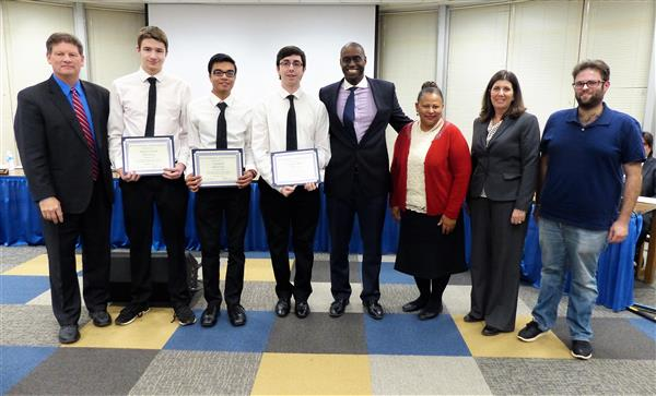 Student Recognitions Highlight Last Board of Education Meeting for 2017