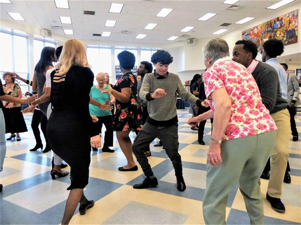 West Orange High School Senior Citizen Prom Unites Young and Old