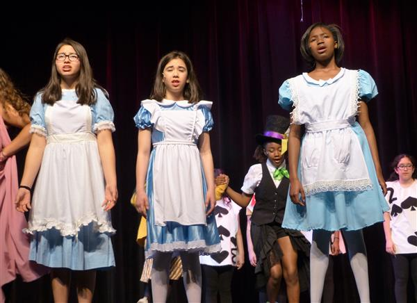 """Alice in Wonderland Jr."" a Bubbly Trip Down the Rabbit Hole at Liberty Middle School"
