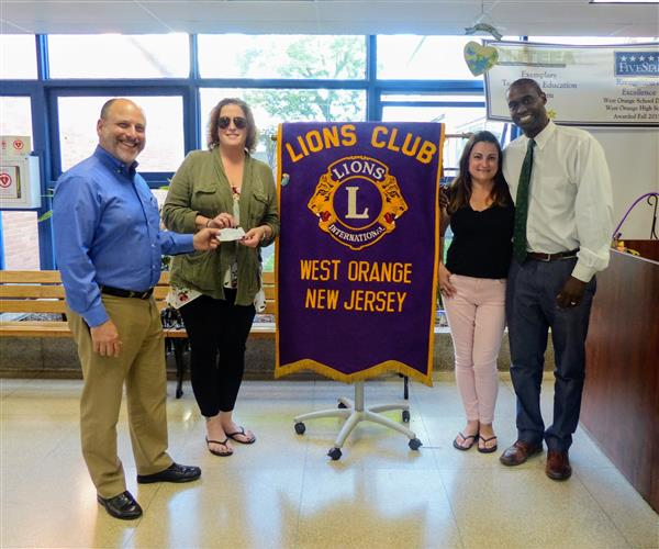 Lion's Club Donation to Project Graduation