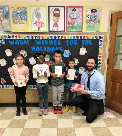 West Orange Students Create Holiday Cards for Troops