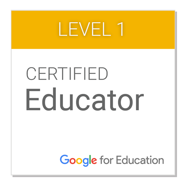 Certified Google Educator Level 1